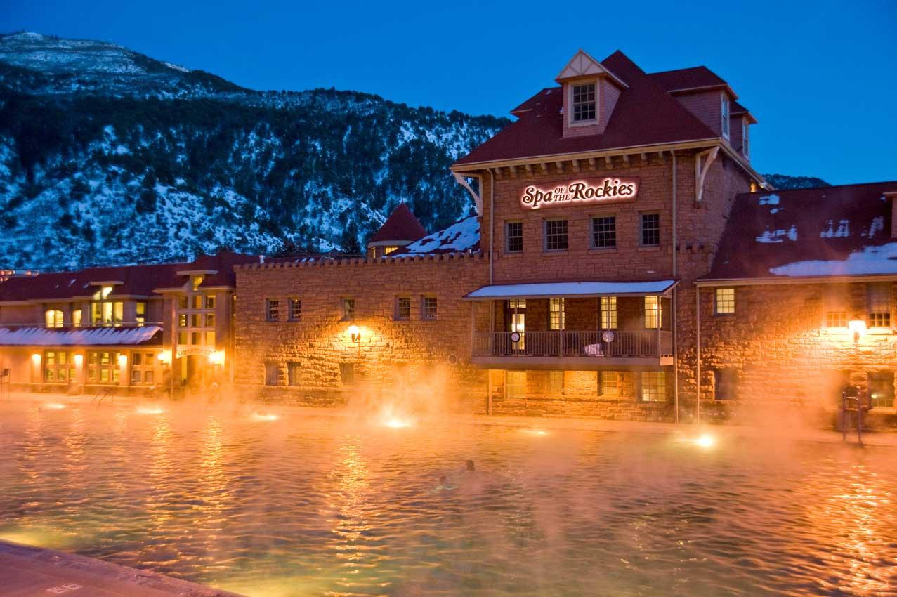 Glenwood Hot Springs At Twilight