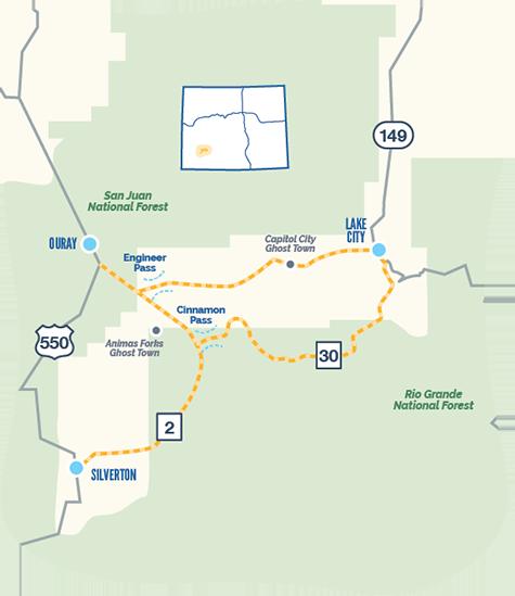 Alpine Loop map