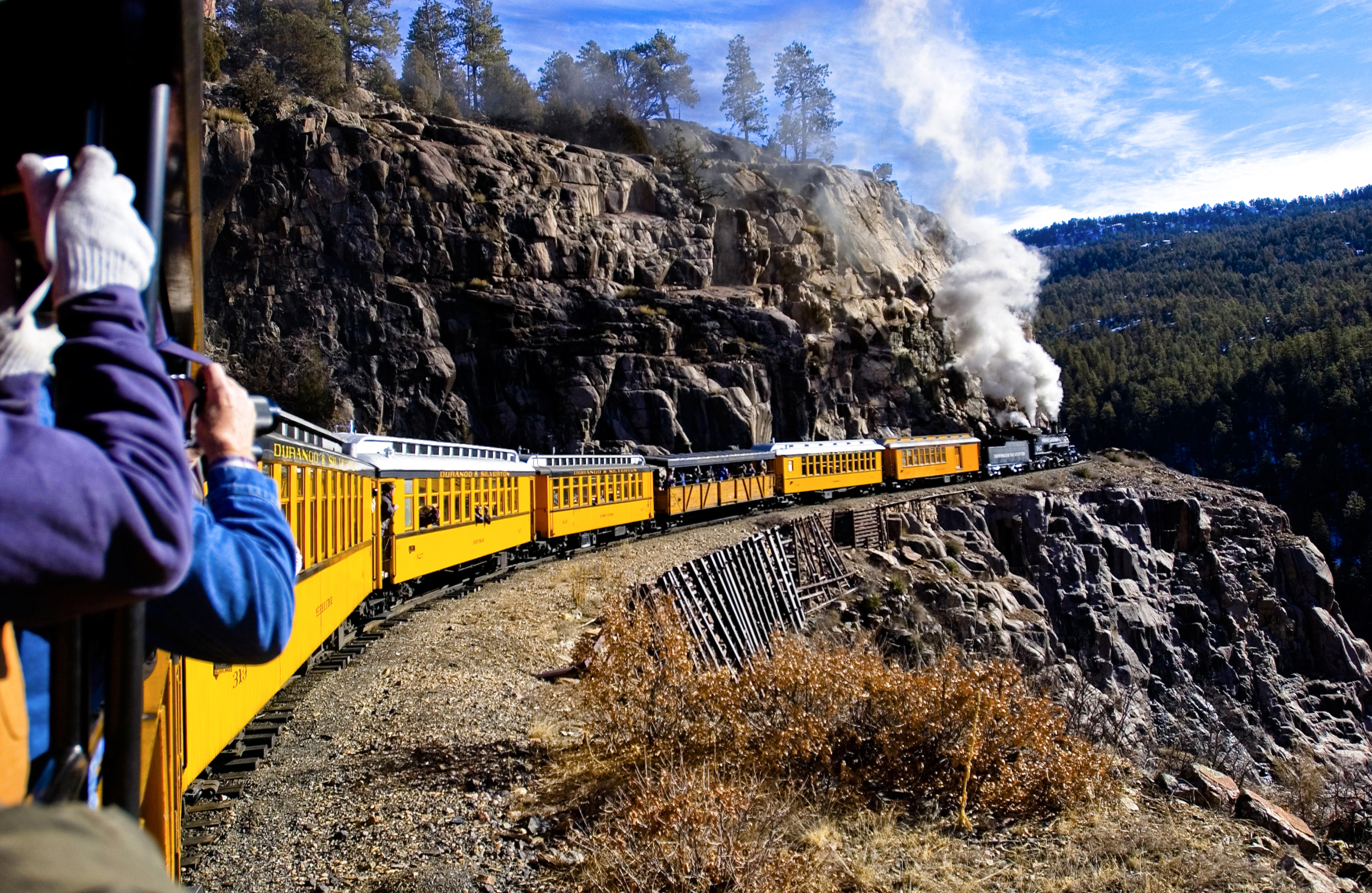 Key West Hotels >> Taking advantage of a perfect photo opportunity aboard the Durango and Silverton Narrow Gauge ...