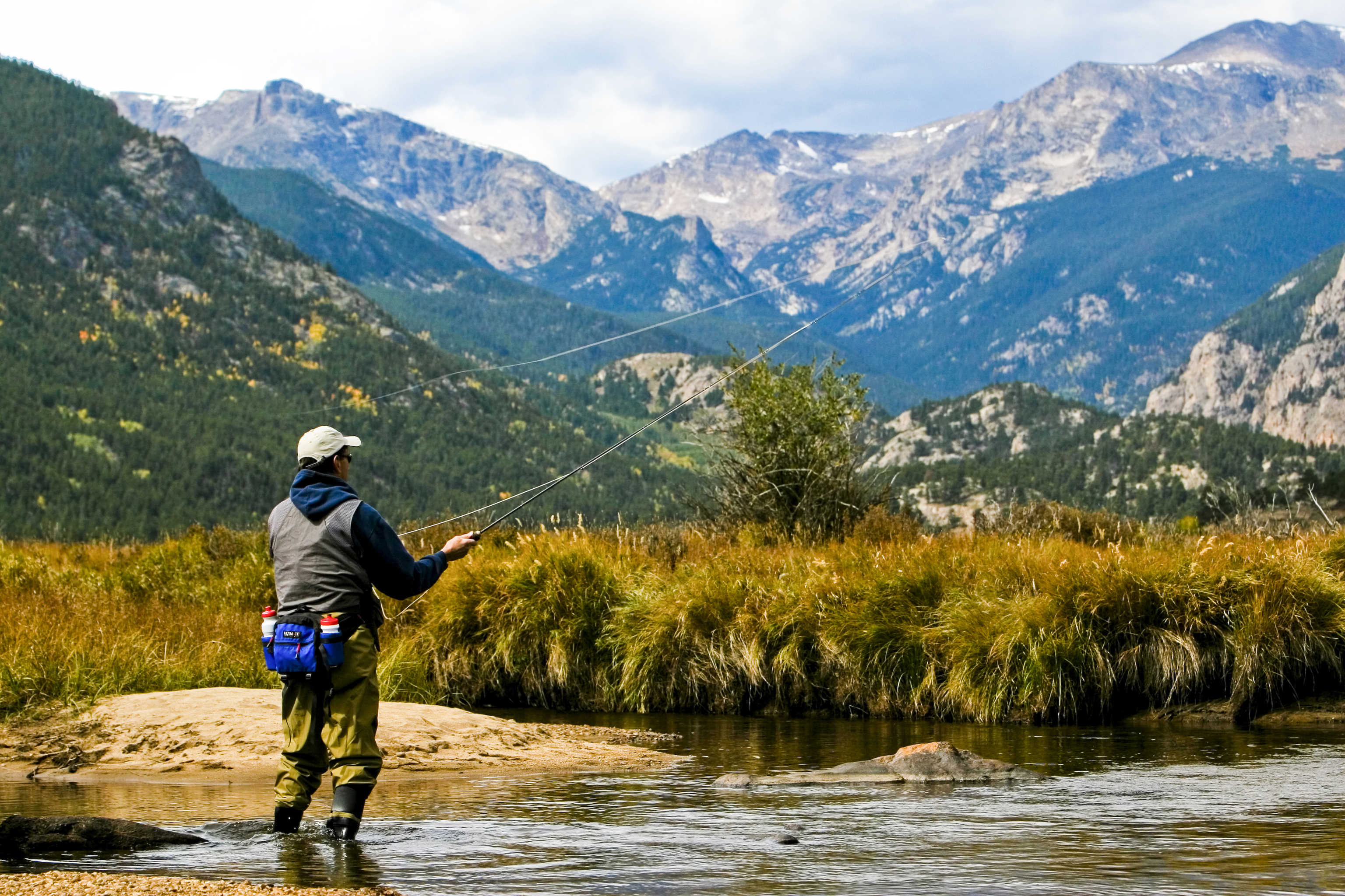 A Fly Fisher In Rocky Mountain National Park Colorado Com