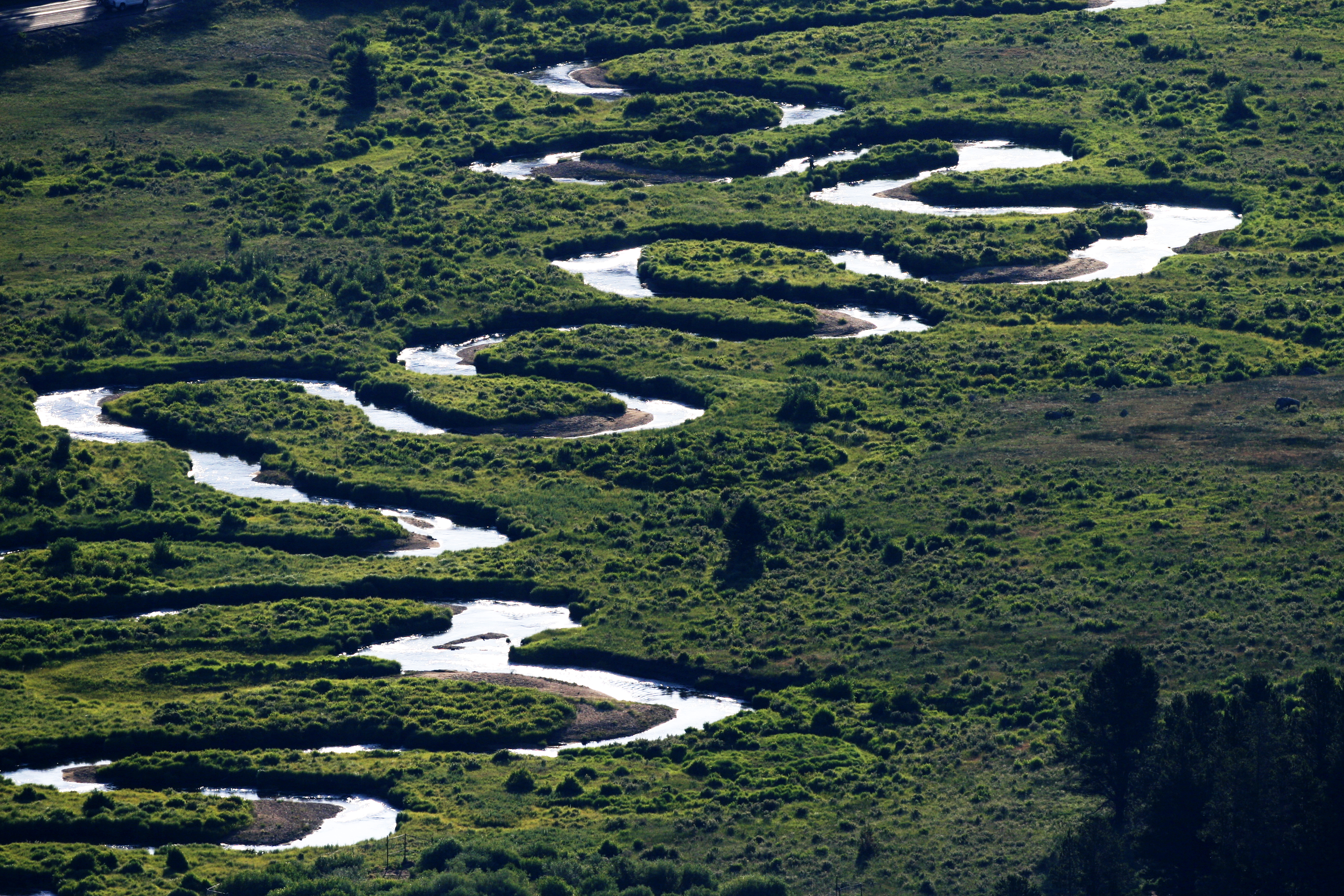 A Meandering River Cutting Its Course Through Rocky Mountain National Park Colorado Com
