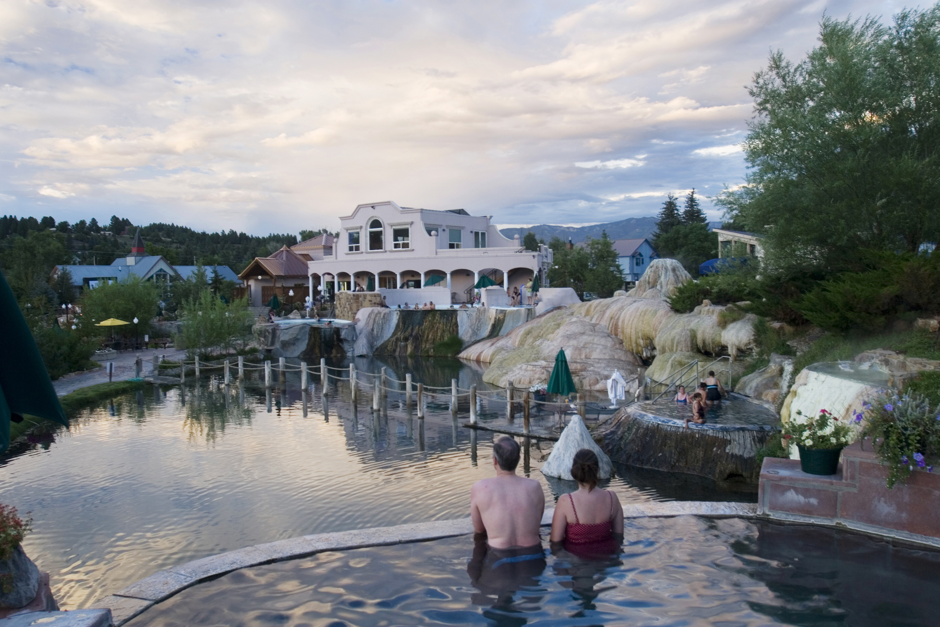 Hot Spring Soakers Relax At The Springs Resort In Pagosa