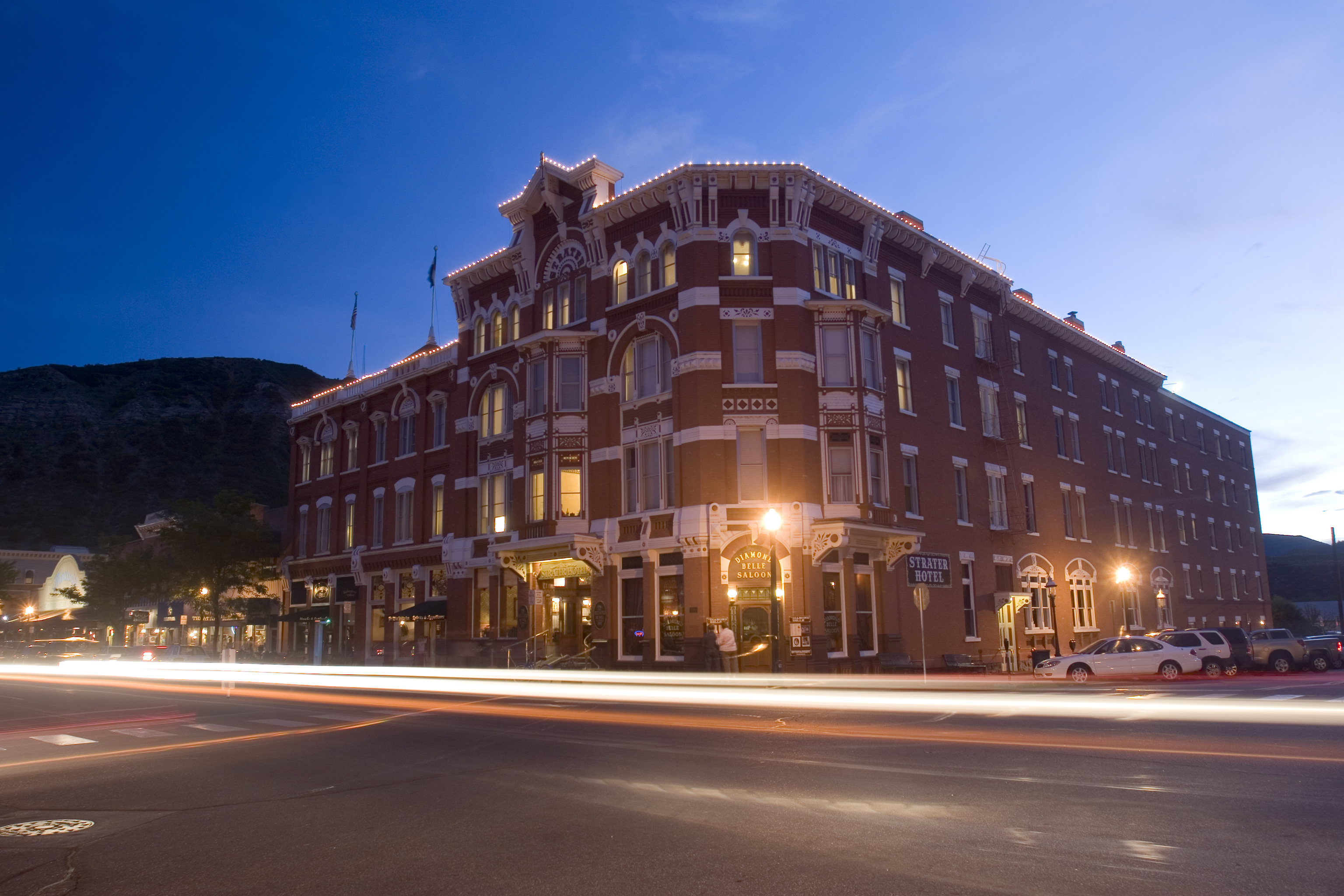 the historic strater hotel in downtown durango. Black Bedroom Furniture Sets. Home Design Ideas