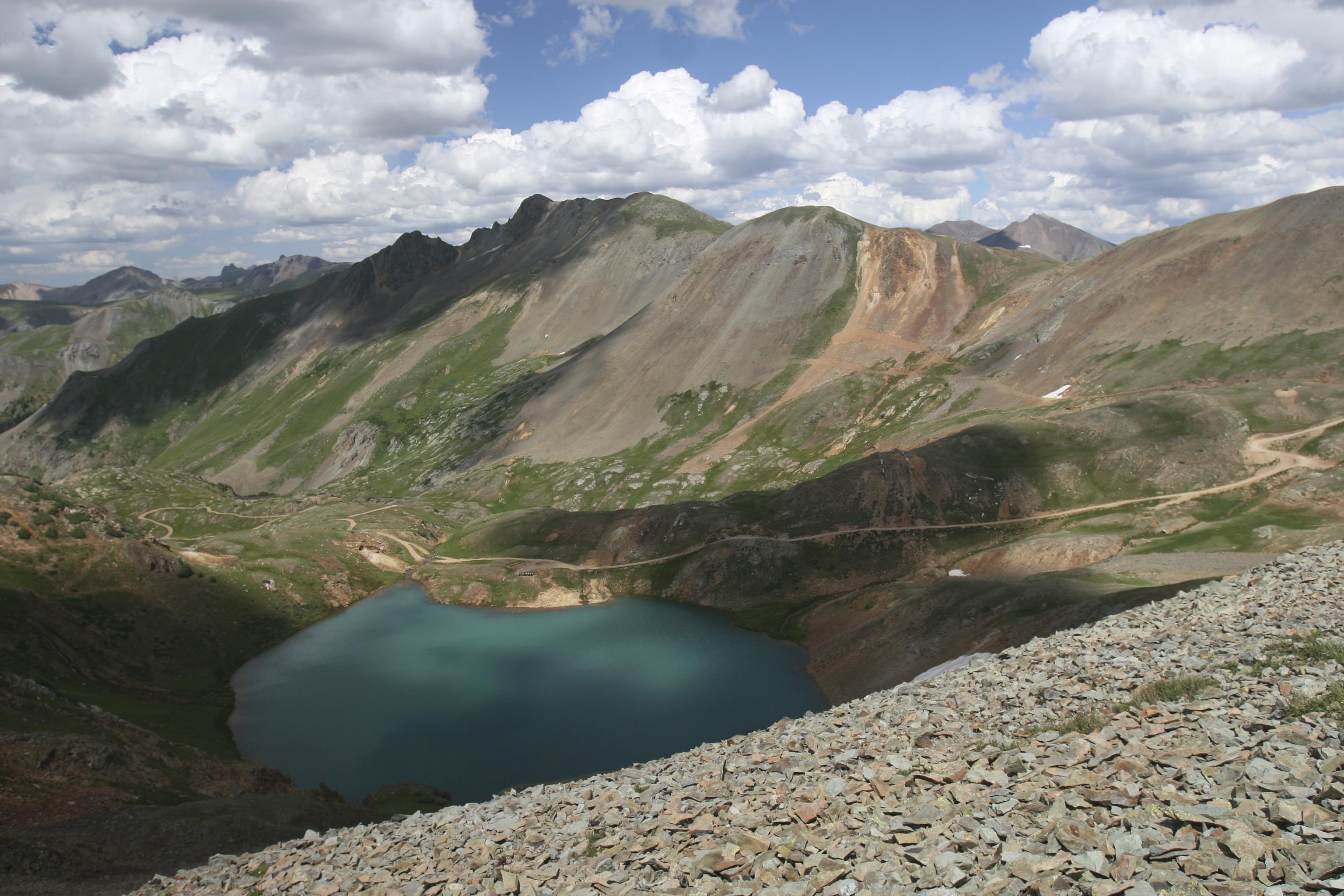 High Mountian Clear Lake In The San Juan Mountains Near Silverton Colorado Com