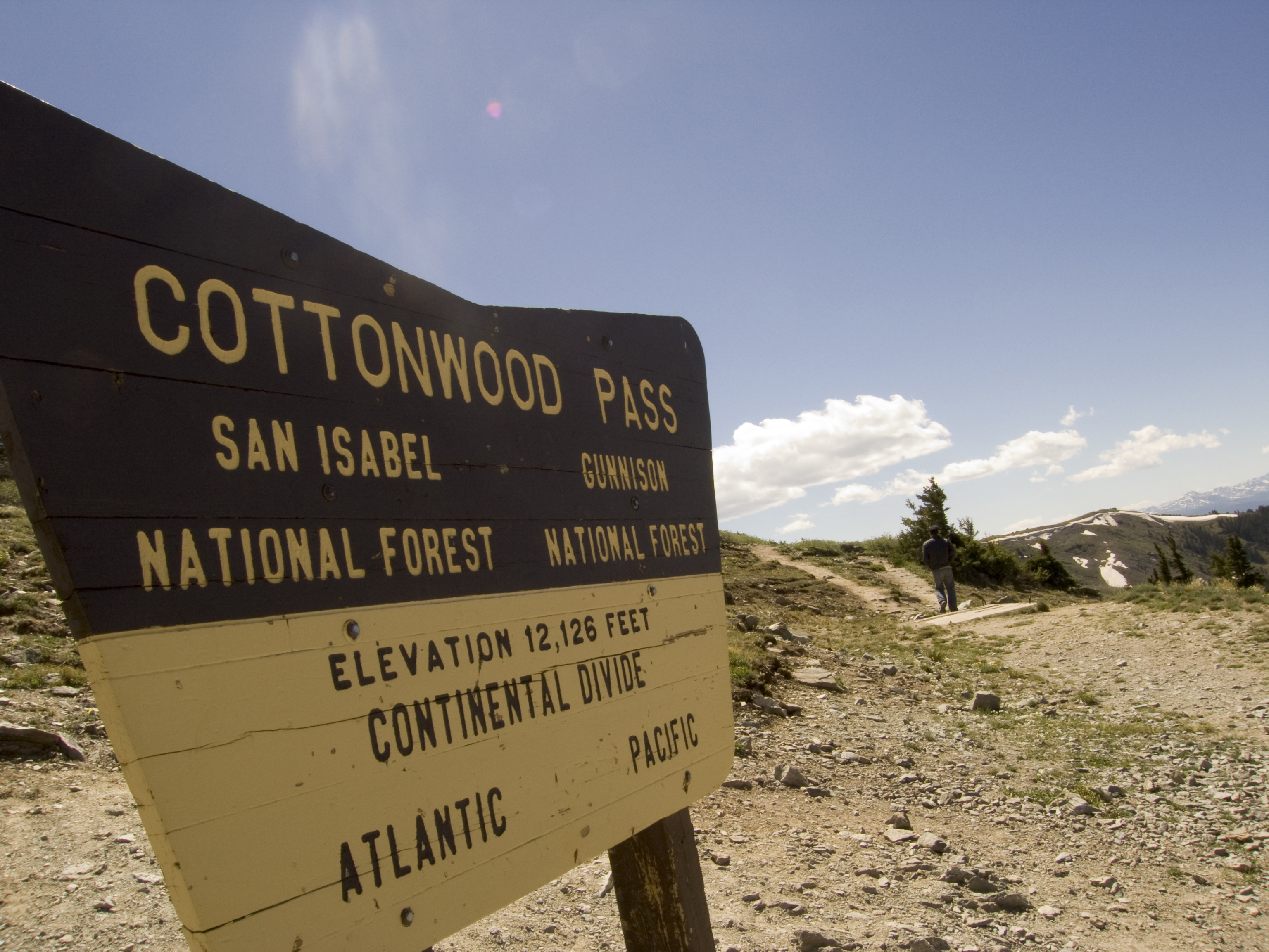 Hiking Cottonwood Pass At A Height Of Feet Above Sea Level - Elevation in feet above sea level