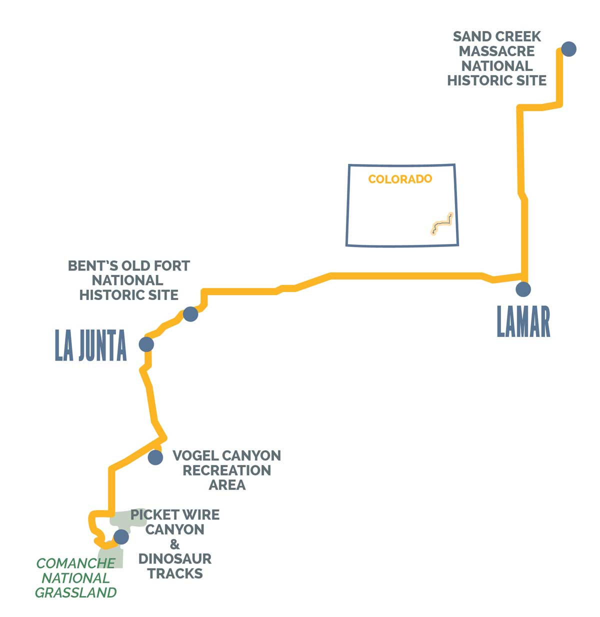 Santa Fe Trail Itinerary Map