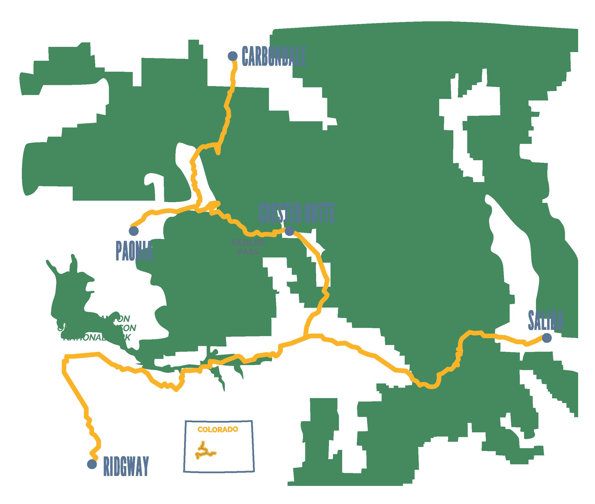 Colorado Creative Corridor Itinerary Map
