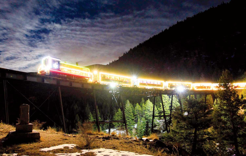 lighted train ride