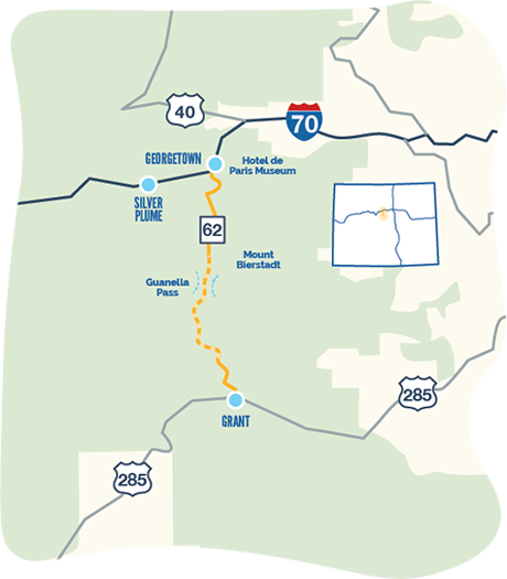 Guanella pass byway map