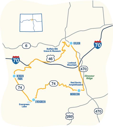 Lariat Loop map