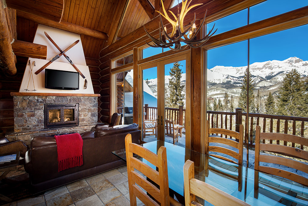 Get away to mountain lodge telluride for Telluride co cabine