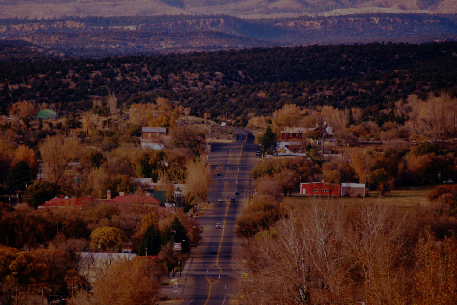 view of Nucla colorado in fall