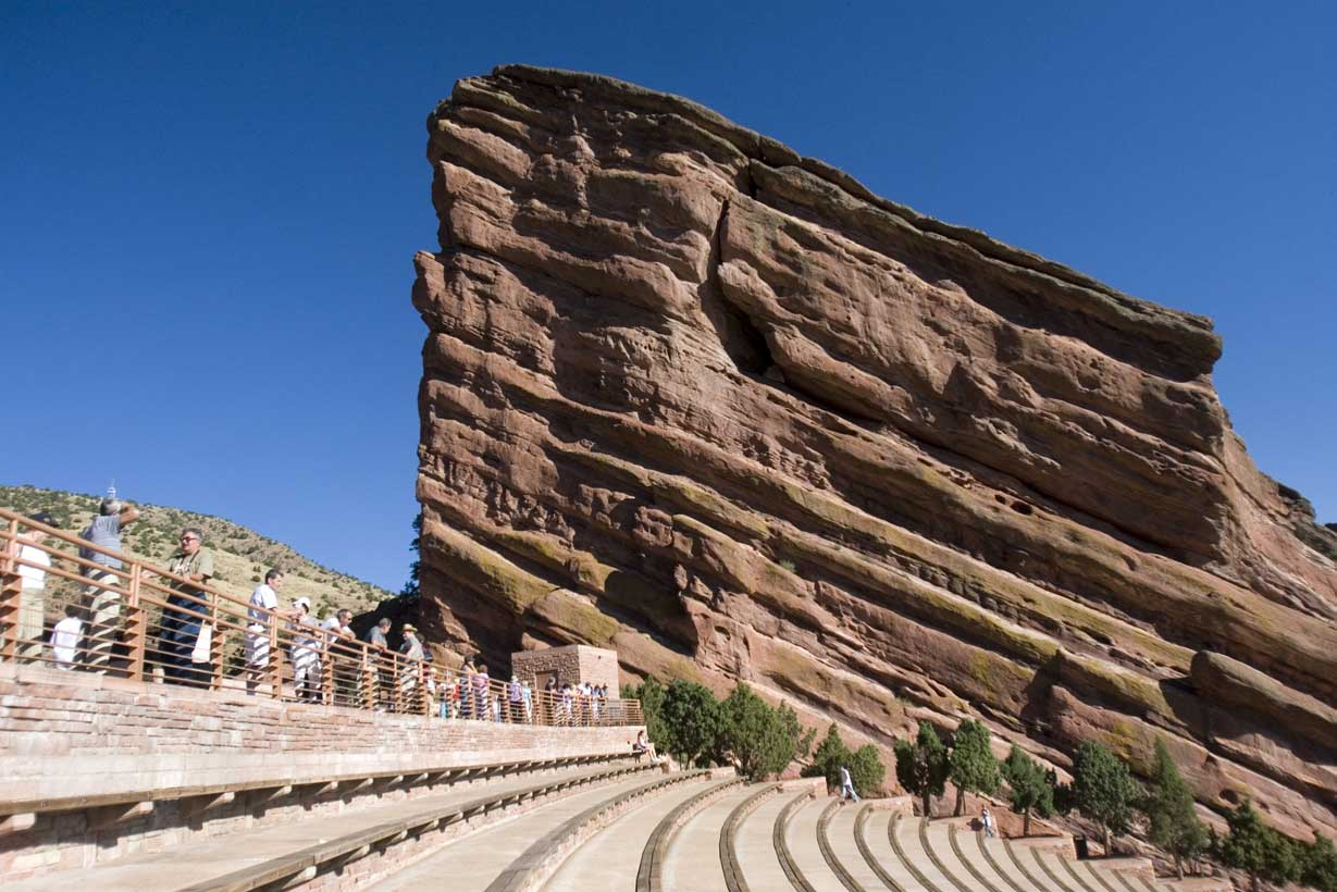 The Aptly Named Red Rocks Amphitheatre Park In Morrison