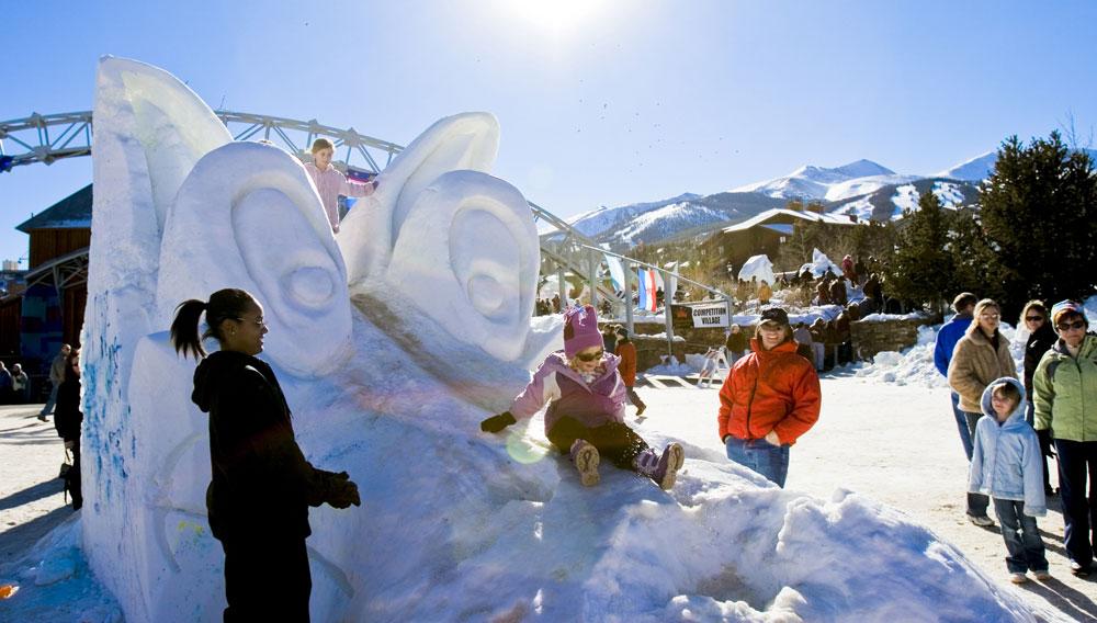 breckenridge snow sculpture competition - Breckenridge Christmas