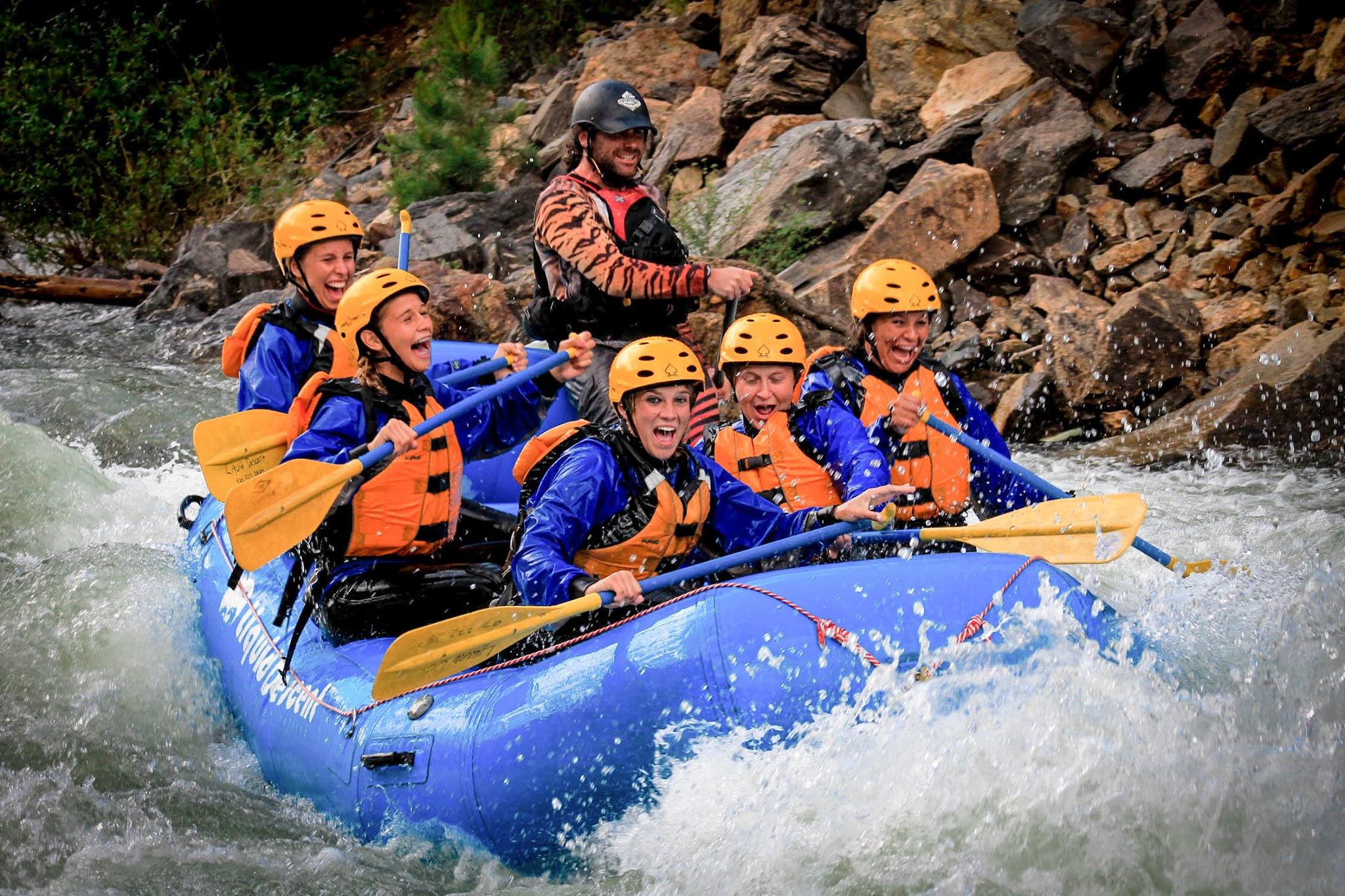 Whitewater rafting on Clear Creek