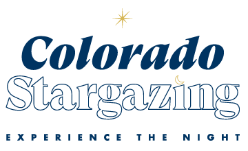 "Colorado Stargazing Logo - ""experience the night"""