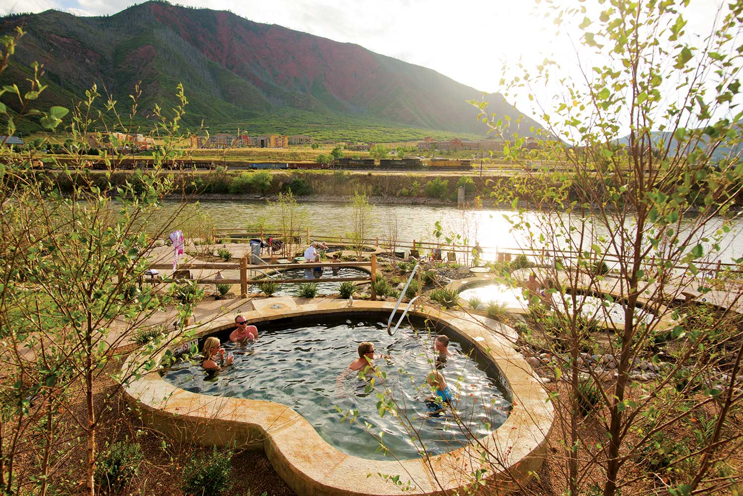 Iron Mountain Hot Springs In Glenwood