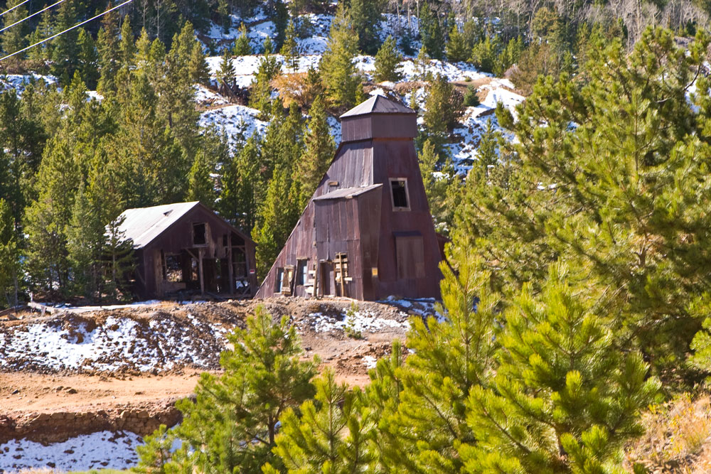 Historic mining structures near Creede