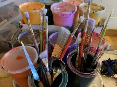 Arts Carrie MaKenna is a working artist studio. Contact us for a studio visit. Photo