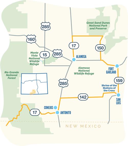 Los Caminos Antiguos Map