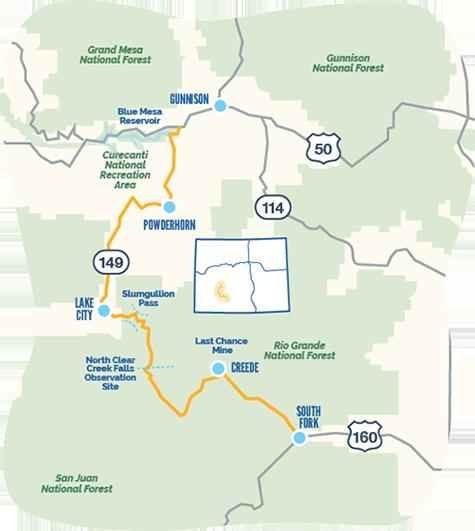 Silver Thread byway map