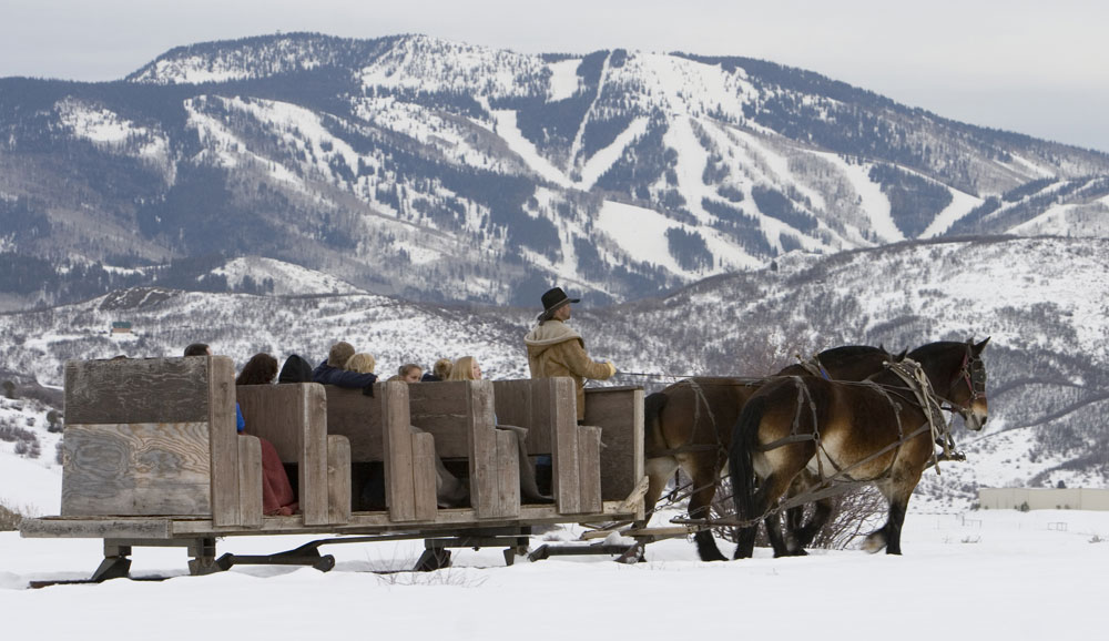 A Cozy Sleigh Ride Near Steamboat Springs Co